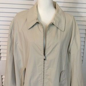 CANALI Cream White Solid Wind Cotton Mens Jacket